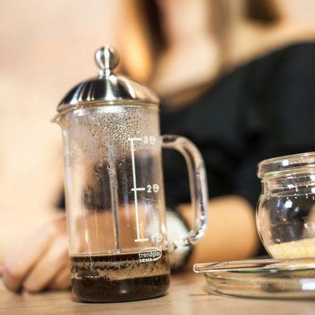 French press (kávékészítő) – 3 csészéhez