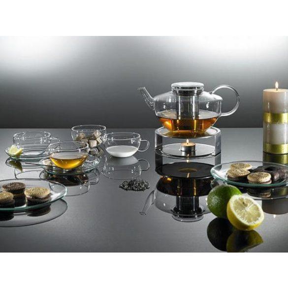 Edelstahlstövchen, mit Teelichthalter (ohneTeelicht), diam.:170m