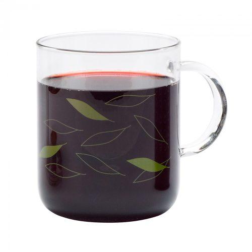 OFFICE teáscsésze - LEAVES - zöld, 0.4l