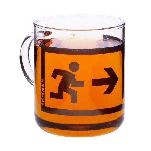 OFFICE teáscsésze - EXIT-fekete, 0.4l