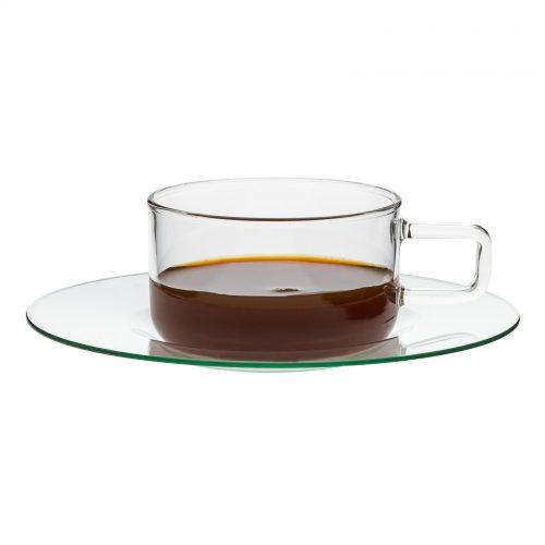 LINEA csésze, 0,18l, üveg alátéttel