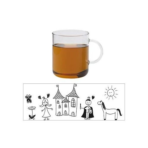 OFFICE mug - CHILD CASTLE - red, 0,4l