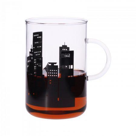 OFFICE  XL teáscsésze - City black, 0.6l