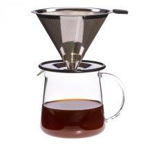 Kávékészítő FOR TWO fém szűrővel, 0.5l (3 csésze)