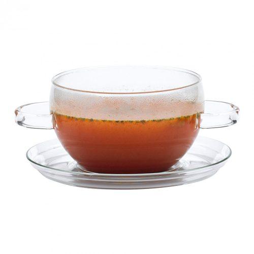 HOT POT leveses csésze üveg alátéttel, 0.4l