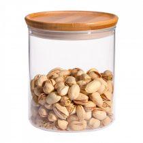 Storage jar with bamboo lid H130, 0.8l (2pcs/box)