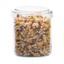 Stackable jar with glass and plastic lid H130, 0.8l