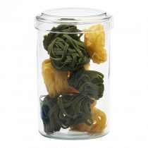 Stackable jar with glass and plastic lid H180, 1.2l
