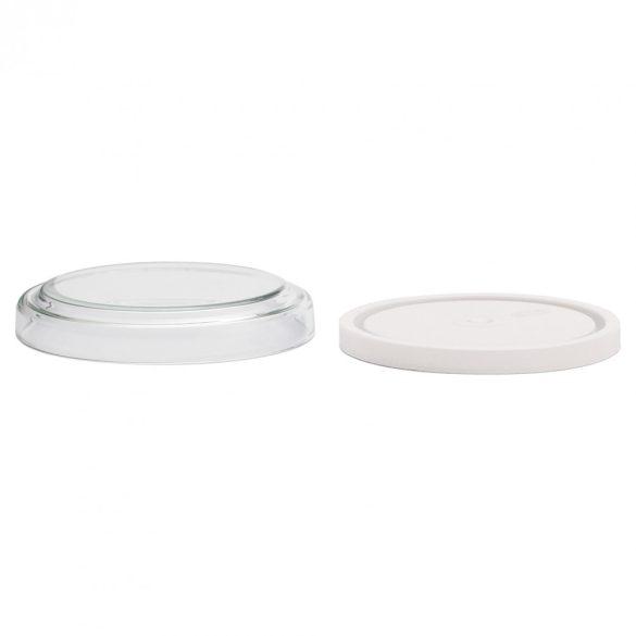 Konyhai üveg tárolódoboz H180 műa.-és üvegtetővel, 1.2l(2db/dob.)