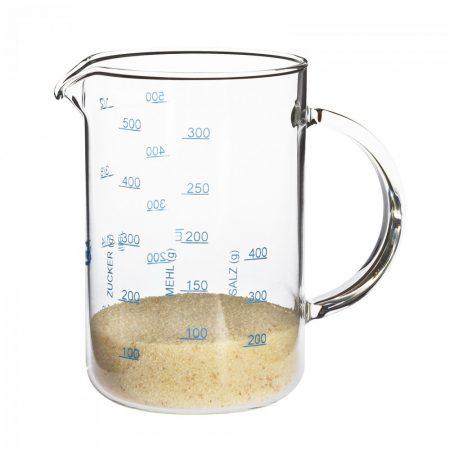 Üveg mérőedény kicsi 0.5l