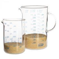 Üveg mérőedény szett 1.0l/0.5l
