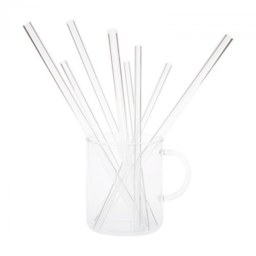 Glas-Trinkhalm Ø10mm x 25cm(6Stk/Paket)