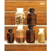 Gyógyszertári üveg közepes - fehér, 0.5l (2db/doboz)