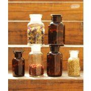 Gyógyszertári üveg mini - fehér, 0.1l (2db/doboz)