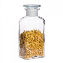 Gyógyszeresüveg KICSI - szögletes, átlátszó, 0.25l (2db/dob)
