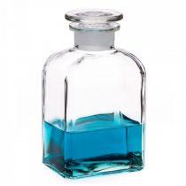 Gyógyszeresüveg KÖZEPES - szögletes, átlátszó, 0.5l (2db/dob)