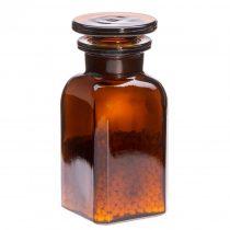 Gyógyszertári üveg mini - szögletes, barna, 0.1l (2db/dob)