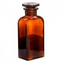 Gyógyszertári üveg kicsi - szögletes, barna, 0.25l (2db/dob)
