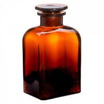 Gyógyszertári üveg közepes - szögletes, barna, 0.5l (2db/dob)