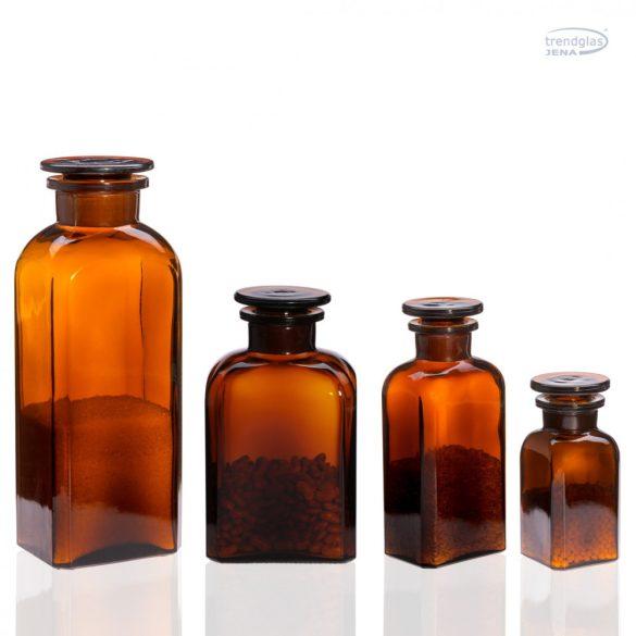 Gyógyszertári tároló közepes - szögletes, barna, 0.5l (2db/dob)