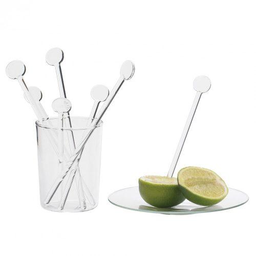 Glass stirrer 18cm (6pcs/box)
