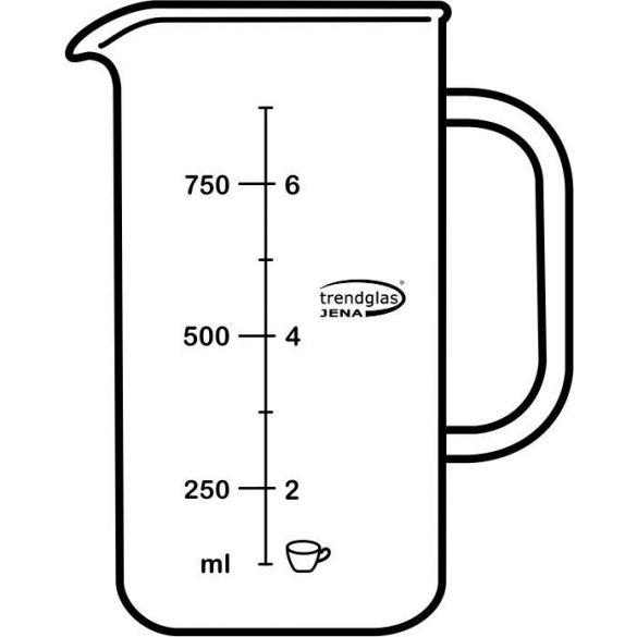 Glaskörper Kaffeebereiter, groß 1,0 l