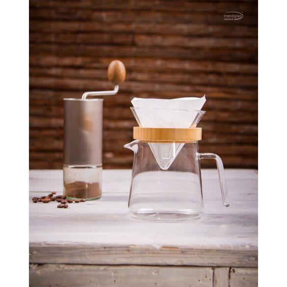 Üveg kávéfilter-tartó S