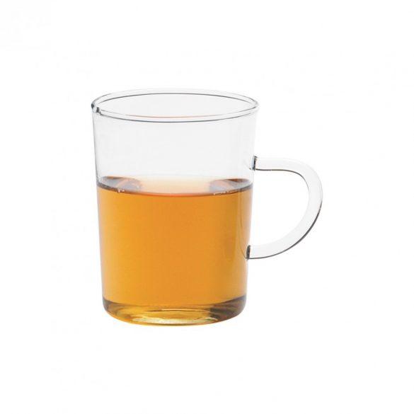 Tea glass with handle - conical, 0.2l (6pcs/box)